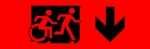Accessible Exit Sign Project Running Man Wheelchair Wheelie Man Symbol Accessible Means of Egress Icon Exit Sign 97