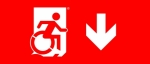 Accessible Exit Sign Project Wheelchair Wheelie Man Symbol Accessible Means of Egress Icon Exit Sign 102