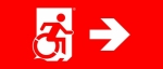 Accessible Exit Sign Project Wheelchair Wheelie Man Symbol Accessible Means of Egress Icon Exit Sign 108