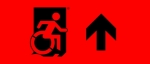 Accessible Exit Sign Project Wheelchair Wheelie Man Symbol Accessible Means of Egress Icon Exit Sign 109