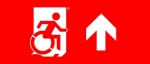 Accessible Exit Sign Project Wheelchair Wheelie Man Symbol Accessible Means of Egress Icon Exit Sign 114
