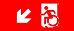 Accessible Exit Sign Project Wheelchair Wheelie Man Symbol Accessible Means of Egress Icon Exit Sign 54