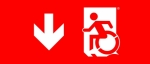 Accessible Exit Sign Project Wheelchair Wheelie Man Symbol Accessible Means of Egress Icon Exit Sign 66