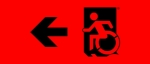 Accessible Exit Sign Project Wheelchair Wheelie Man Symbol Accessible Means of Egress Icon Exit Sign 67