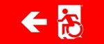 Accessible Exit Sign Project Wheelchair Wheelie Man Symbol Accessible Means of Egress Icon Exit Sign 72
