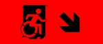 Accessible Exit Sign Project Wheelchair Wheelie Man Symbol Accessible Means of Egress Icon Exit Sign 85