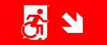 Accessible Exit Sign Project Wheelchair Wheelie Man Symbol Accessible Means of Egress Icon Exit Sign 90