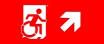 Accessible Exit Sign Project Wheelchair Wheelie Man Symbol Accessible Means of Egress Icon Exit Sign 96