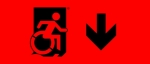 Accessible Exit Sign Project Wheelchair Wheelie Man Symbol Accessible Means of Egress Icon Exit Sign 97