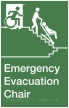 Emergency Evacuation Chair Exit Sign