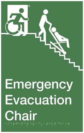 Emergency Evacuation Chair Accessible Signs Accessible Exit Sign Project
