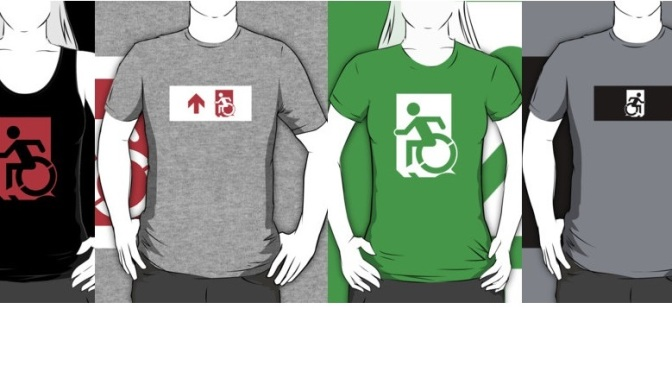 Accessible Means of Egress Exit Sign T-Shirts