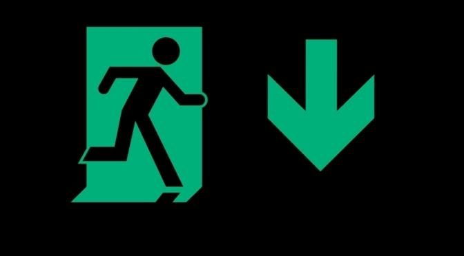 Running Man Page Header, part of the Accessible Exit Sign Project