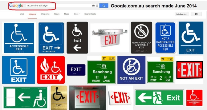 Google Search for Accessible Exit Signs