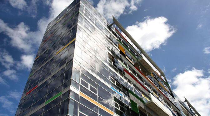 Colourful building in Docklands Melbourne