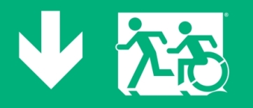 Accessible Exit Sign Project Running Man Wheelchair Wheelie Man Symbol Accessible Means of Egress Icon Exit Sign 3