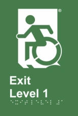 Accessible Exit Sign Project Wheelchair Door Sign Level 1 Accessible Means of Egress Icon