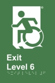 Accessible Exit Sign Project Wheelchair Door Sign Level 6 Accessible Means of Egress Icon