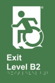 Accessible Exit Sign Project Wheelchair Door Sign Level B2 Accessible Means of Egress Icon