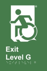 Accessible Exit Sign Project Wheelchair Door Sign Level G Accessible Means of Egress Icon