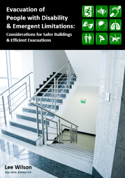 Cover of guidebook Evacuation of People with Disability & Emergent Limitations: Considerations for Safer Buildings & Efficient Evacuations, 2nd Edition