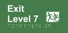 Accessible Exit Sign Project Wheelchair Door Sign Level 7 Accessible Means of Egress Icon