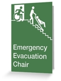 Accessible Exit Sign Project Wheelchair Wheelie Man Symbol Means of Egress Icon Disability Emergency Evacuation Fire Safety Chair Greeting Card 2