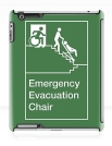 Accessible Exit Sign Project Wheelchair Wheelie Man Symbol Means of Egress Icon Disability Emergency Evacuation Fire Safety Chair iPad Case 1