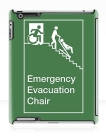 Accessible Exit Sign Project Wheelchair Wheelie Man Symbol Means of Egress Icon Disability Emergency Evacuation Fire Safety Chair iPad Case 2
