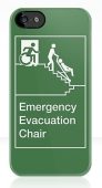 Accessible Exit Sign Project Wheelchair Wheelie Man Symbol Means of Egress Icon Disability Emergency Evacuation Fire Safety Chair iPhone Case 2