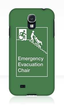 Accessible Exit Sign Project Wheelchair Wheelie Man Symbol Means of Egress Icon Disability Emergency Evacuation Fire Safety Chair Samsung Galaxy Case 1