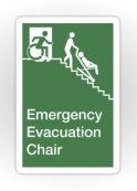 Accessible Exit Sign Project Wheelchair Wheelie Man Symbol Means of Egress Icon Disability Emergency Evacuation Fire Safety Chair Sticker 2