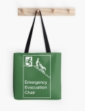 Accessible Exit Sign Project Wheelchair Wheelie Man Symbol Means of Egress Icon Disability Emergency Evacuation Fire Safety Chair Tote Bag 1