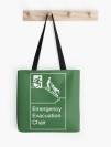 Accessible Exit Sign Project Wheelchair Wheelie Man Symbol Means of Egress Icon Disability Emergency Evacuation Fire Safety Chair Tote Bag 2