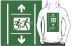 Accessible Exit Sign Project Wheelchair Wheelie Running Man Symbol Means of Egress Icon Disability Emergency Evacuation Fire Safety Lift Elevator Adult T-shirt 5