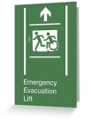 Accessible Exit Sign Project Wheelchair Wheelie Running Man Symbol Means of Egress Icon Disability Emergency Evacuation Fire Safety Lift Elevator Greeting Card 5