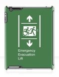 Accessible Exit Sign Project Wheelchair Wheelie Running Man Symbol Means of Egress Icon Disability Emergency Evacuation Fire Safety Lift Elevator iPad Case 2