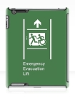 Accessible Exit Sign Project Wheelchair Wheelie Running Man Symbol Means of Egress Icon Disability Emergency Evacuation Fire Safety Lift Elevator iPad Case 7