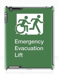 Accessible Exit Sign Project Wheelchair Wheelie Running Man Symbol Means of Egress Icon Disability Emergency Evacuation Fire Safety Lift Elevator iPad Case 8