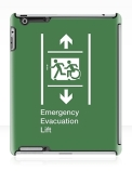 Accessible Exit Sign Project Wheelchair Wheelie Running Man Symbol Means of Egress Icon Disability Emergency Evacuation Fire Safety Lift Elevator iPad Case 9