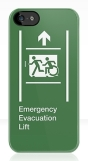 Accessible Exit Sign Project Wheelchair Wheelie Running Man Symbol Means of Egress Icon Disability Emergency Evacuation Fire Safety Lift Elevator iPhone Case 2