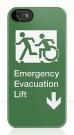 Accessible Exit Sign Project Wheelchair Wheelie Running Man Symbol Means of Egress Icon Disability Emergency Evacuation Fire Safety Lift Elevator iPhone Case 3