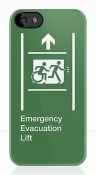 Accessible Exit Sign Project Wheelchair Wheelie Running Man Symbol Means of Egress Icon Disability Emergency Evacuation Fire Safety Lift Elevator iPhone Case 5