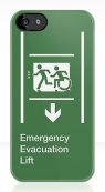 Accessible Exit Sign Project Wheelchair Wheelie Running Man Symbol Means of Egress Icon Disability Emergency Evacuation Fire Safety Lift Elevator iPhone Case 9