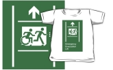 Accessible Exit Sign Project Wheelchair Wheelie Running Man Symbol Means of Egress Icon Disability Emergency Evacuation Fire Safety Lift Elevator Kids T-shirt 6