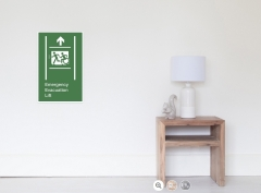 Accessible Exit Sign Project Wheelchair Wheelie Running Man Symbol Means of Egress Icon Disability Emergency Evacuation Fire Safety Lift Elevator Poster 4
