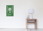 Accessible Exit Sign Project Wheelchair Wheelie Running Man Symbol Means of Egress Icon Disability Emergency Evacuation Fire Safety Lift Elevator Poster 9