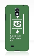 Accessible Exit Sign Project Wheelchair Wheelie Running Man Symbol Means of Egress Icon Disability Emergency Evacuation Fire Safety Lift Elevator Samsung Galaxy Case 10