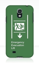 Accessible Exit Sign Project Wheelchair Wheelie Running Man Symbol Means of Egress Icon Disability Emergency Evacuation Fire Safety Lift Elevator Samsung Galaxy Case 12