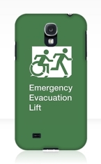Accessible Exit Sign Project Wheelchair Wheelie Running Man Symbol Means of Egress Icon Disability Emergency Evacuation Fire Safety Lift Elevator Samsung Galaxy Case 2